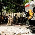 Carro que caiu de prédio em Maringá