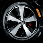 Volkswagen 2012 Beetle Black Turbo roda