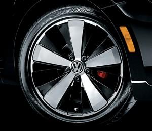 Volkswagen 2012 Beetle Black Turbo roda